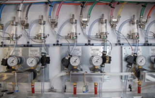 Close Up of manifold system